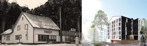 Maineikas, esimerkiksi M.A. Nummisen Baarien mies -kirjaan päätynyt Mäntylän baari lopetti toimintansa vuonna 1989, mutta tontin historia jatkuu kiinnostavana. Kuusikerroksinen puutalo (havainnekuva oikealla) on suomalaisittain historiallinen projekti.